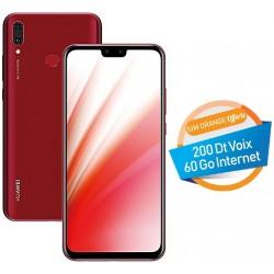 Téléphone Portable Huawei Y9 2019 / 4G / Double SIM / Rouge + SIM Orange Offerte (60 Go)