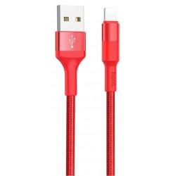 Câble USB vers Lightning Hoco X26 / Rouge