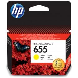 Cartouche d'encre Originale HP 655 / Jaune