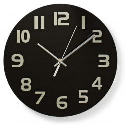 Horloge murale Nedis 30 cm / Noir