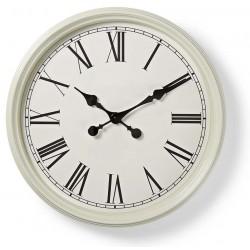 Horloge murale Nedis 50 cm / Style Ancien / Blanc