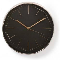 Horloge murale Nedis 30 cm / Noir et Or Rose