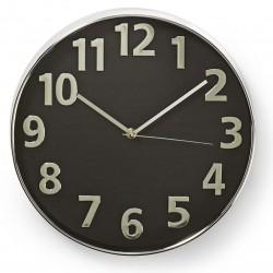 Horloge murale Nedis 30 cm / Noir et Argent