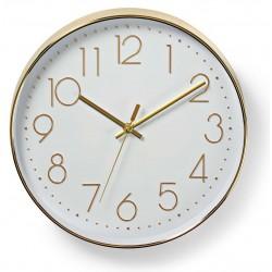 Horloge murale Nedis 30 cm / Blanc et Gold