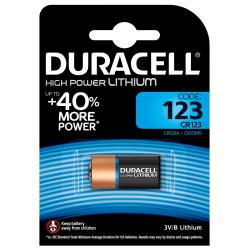 Pile Lithium Haute Puissance Duracell 123 3V