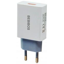 Adaptateur Secteur BEBIBOS USB 2.1A / Blanc