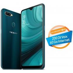 Téléphone Portable Oppo A7 / 4G / Double SIM / Turquoise + SIM Orange Offerte (60 Go) + Abonnement IPTV
