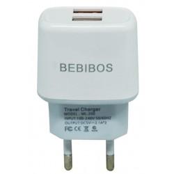 Adaptateur Secteur BEBIBOS 2x USB 2.1A / Blanc