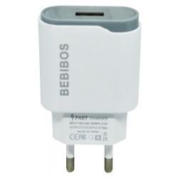 Adaptateur Secteur BEBIBOS Fast Charging USB 1A / Blanc