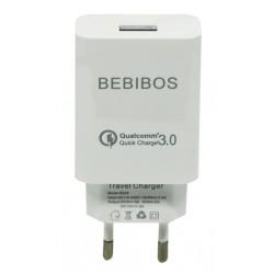 Adaptateur Secteur BEBIBOS Fast Charging USB 2.1A / Blanc