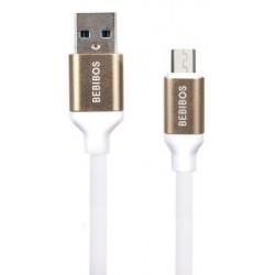 Câble BEBIBOS USB Vers Micro USB / Blanc & Gold