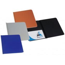 Porte-Bloc double en PVC 24x32 cm / Bleu