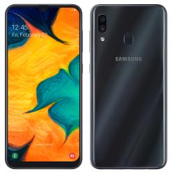 Téléphone Portable Samsung Galaxy A30 / Noir + SIM Orange Offerte (60 Go)