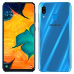 Téléphone Portable Samsung Galaxy A30 / Bleu + SIM Orange Offerte (60 Go)