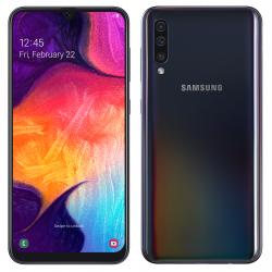 Téléphone Portable Samsung Galaxy A50 / Noir + SIM Orange Offerte (60 Go)