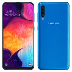 Téléphone Portable Samsung Galaxy A50 / Bleu + SIM Orange Offerte (60 Go)