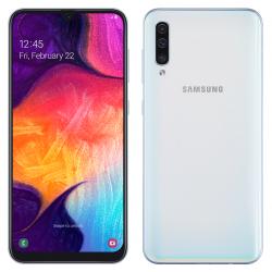 Téléphone Portable Samsung Galaxy A50 / Blanc + SIM Orange Offerte (60 Go)
