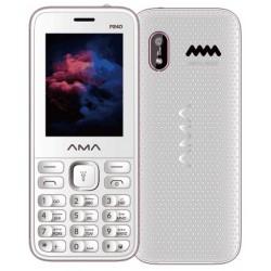 Téléphone Portable AMA P240  / Double SIM / Blanc & Rose