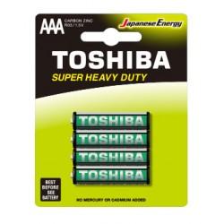 4x Piles Toshiba Zinc Super Heavy Duty AAA / LR03 / 1.5V