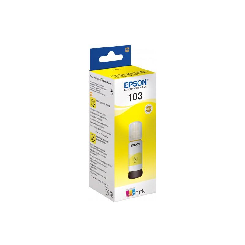 BOUTEILLE D'ENCRE ORIGINALE EPSON ECOTANK 103 / YELLOW