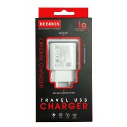Adaptateur Secteur BEBIBOS USB 2A / Blanc