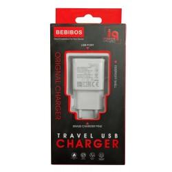 Adaptateur Secteur BEBIBOS 2x USB 2A / Blanc