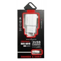 Chargeur Secteur BEBIBOS USB 2.1A / Blanc