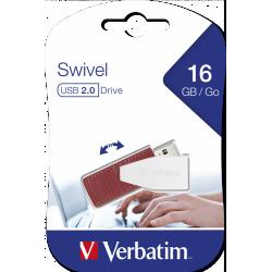 Clé USB Verbatim Swivel USB 2.0 / 16  Go / Rouge