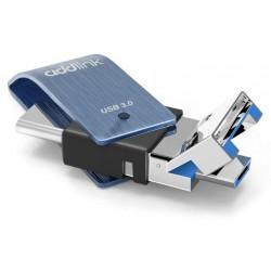 Clé USB Addlink OTG 3en1 USB 3.1 + USB Type C + Micro USB / 16 Go