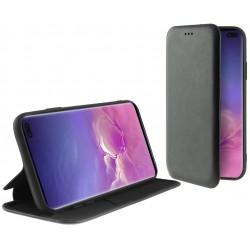 Etui Flip Cover avec support Ksix Folio Lite pour Galaxy S10 Plus / Noir