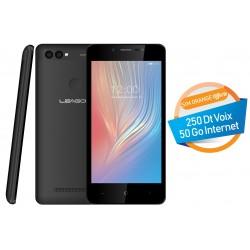 Téléphone Portable Leagoo Power 2 / 3G / Double SIM / Noir + SIM Orange Offerte (50 Go)