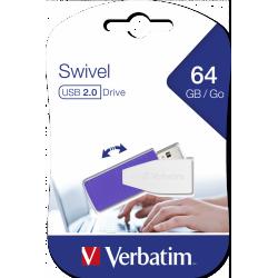 Clé USB Verbatim Swivel USB 2.0 / 64 Go / Violet