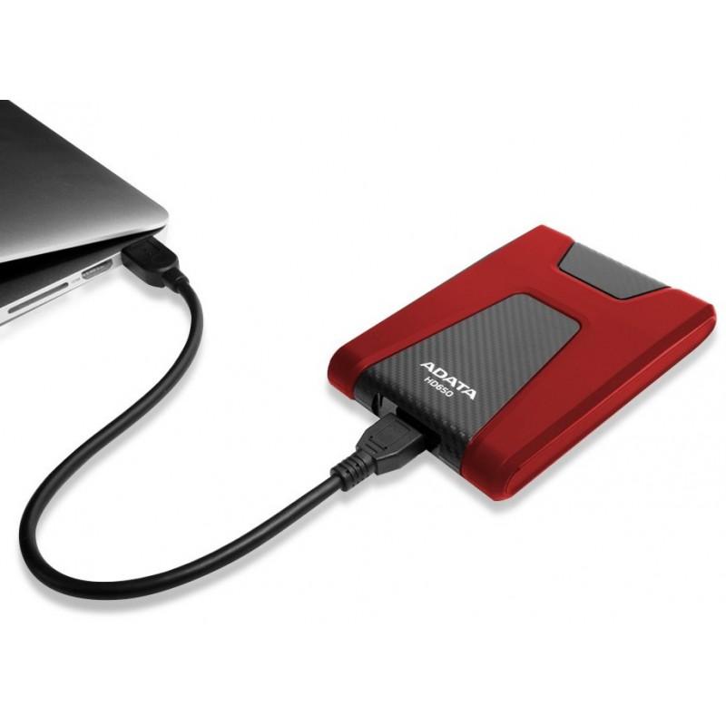DISQUE DUR EXTERNE ANTICHOCS HD650 USB 3.1 / 2 TO / ROUGE
