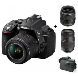 Réflex Numérique Nikon D5300 + Objectif Nikkor 18-55MM + Objectif Nikkor 70-300MM + Sacoche