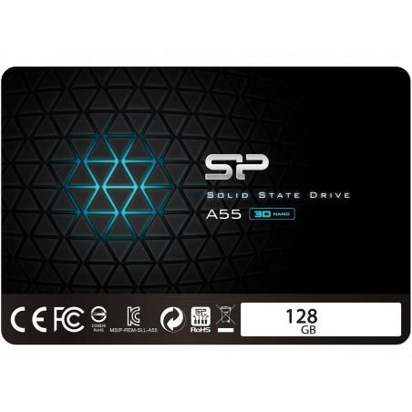 "Disque Dur SSD Silicon Power 2.5"" Slim A55 / 128 Go"