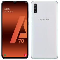 Téléphone Portable Samsung Galaxy A70 / Blanc + SIM Orange Offerte (60 Go)