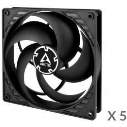5x Ventilateurs de boîtier pour Gamer Arctic P12 Value Pack / Noir