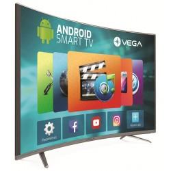 """Téléviseur VEGA LED 65"""" Curved Smart 4K / Wifi / Android / Gris"""
