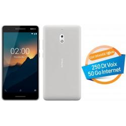 Téléphone Portable Nokia 2.1 Silver + SIM Orange Offerte (50 Go)