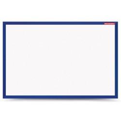 Tableau Blanc magnétique cadre en bois 60 x 40 / Bleu Foncé