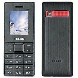 Téléphone Portable Tecno T350 / Double SIM / Noir & Rouge + SIM Offerte