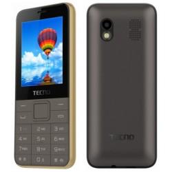 Téléphone Portable Tecno T371 / Double SIM / Gold + SIM Offerte