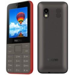 Téléphone Portable Tecno T371 / Double SIM / Rouge + SIM Offerte