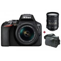 Réflex Numérique Nikon D3500 + Objectif AF-S DX NIKKOR 18-200mm f/3.5-5.6G ED VR II + Sacoche