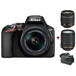 Réflex Numérique Nikon D3500 + Objectif AF-P DX NIKKOR 18-55mm + AF-S DX NIKKOR 18-140mm + Sacoche