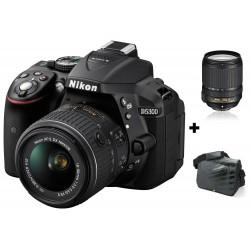 Réflex Numérique Nikon D5300 + Objectif Nikkor 18-140mm + Sacoche