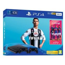 Console PlayStation Sony PS4 500 Go / Noir + FIFA 2019
