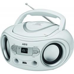 Radio-CD FM AEG SR 4374 / Blanc