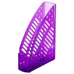 Porte-revues en plastique transparent Faibo 150T / Violet