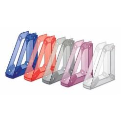 Porte-revues en plastique transparent Faibo 151T / Bleu